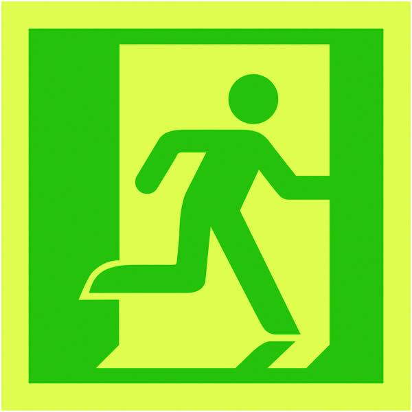 Mcdonogh Safety Products 150x150mm Running Man Right Symbol Nite Gl